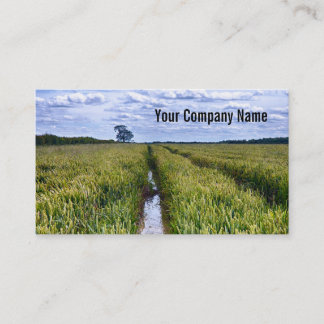 Tractor Tracks through Field Custom Business Cards