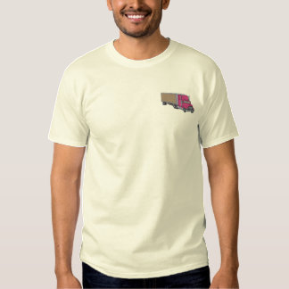 Tractor-trailer Embroidered T-Shirt