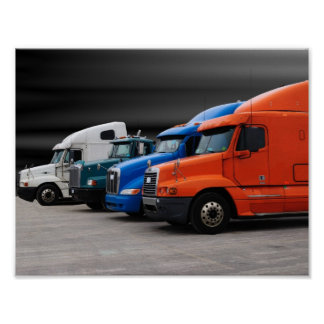 Tractor Trailers Poster
