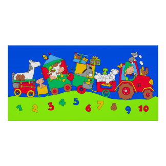 Tractor Train Poster