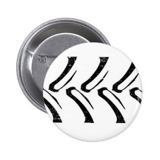 Tractor Tread Grunge Pinback Button