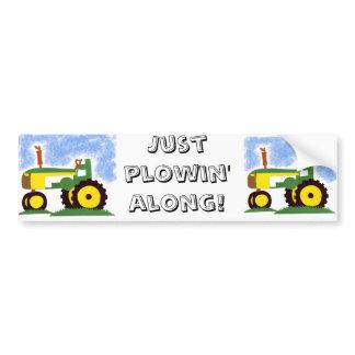 Tractor under Blue Sky Bumper Sticker