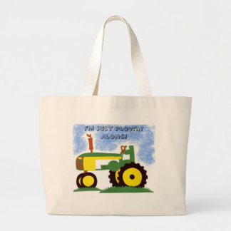 Tractor under Blue Sky Large Tote Bag