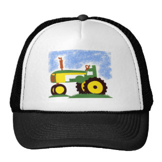 Tractor under Blue Sky Mesh Hat