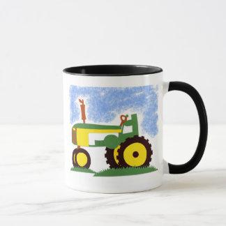 Tractor under Blue Sky Mug