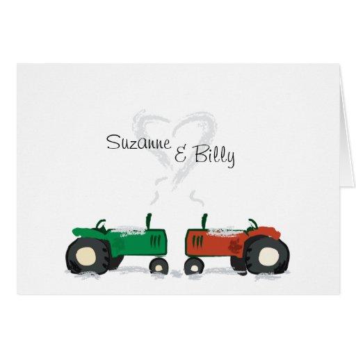 Tractor Valentine Cards : Tractor valentine card zazzle