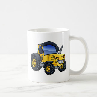 Tractor Vehicle Cartoon Coffee Mug
