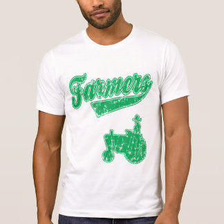 Tractor verde de los granjeros playeras