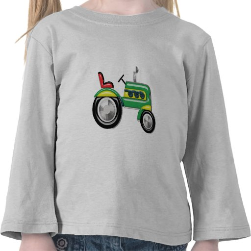 Tractor verde de Teriffic Camisetas