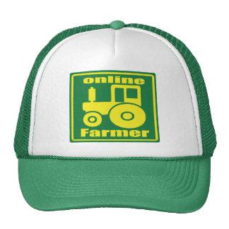 tractor verde gorras de camionero
