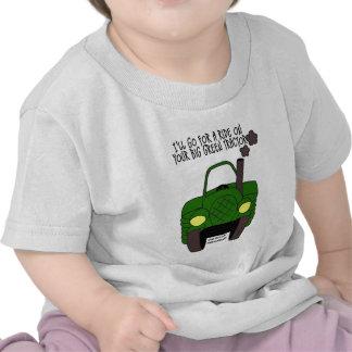 Tractor verde grande camisetas