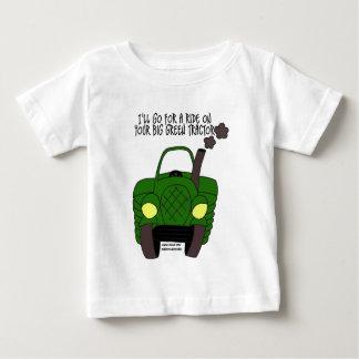 Tractor verde grande playera
