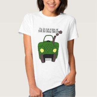 Tractor verde grande playeras
