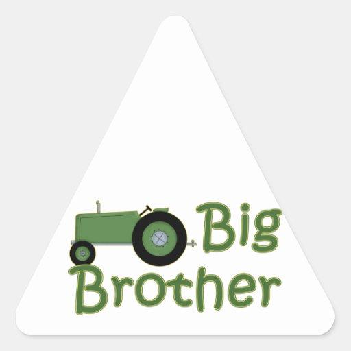Tractor verde mayor de hermano calcomania trianguloada
