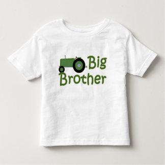 Tractor verde mayor de hermano playera de bebé