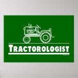 Tractor verde Ologist Posters