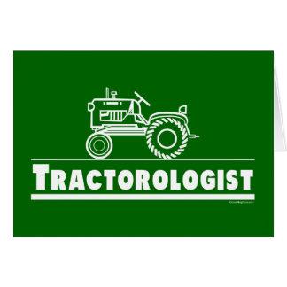 Tractor verde Ologist Tarjeta De Felicitación