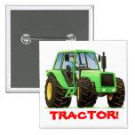 Tractor verde pins