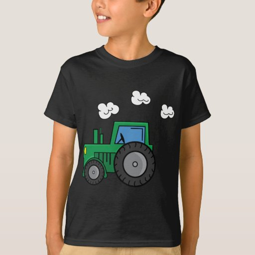 Tractor verde playera