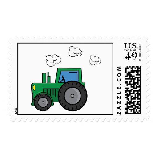 Tractor verde sello