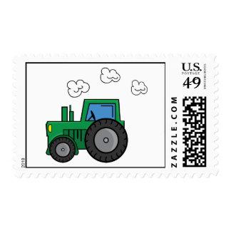 Tractor verde sellos