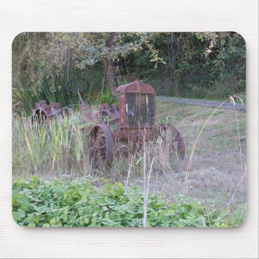 Tractor viejo alfombrilla de raton
