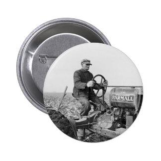 Tractor viejo de confianza, los años 30 pin redondo 5 cm