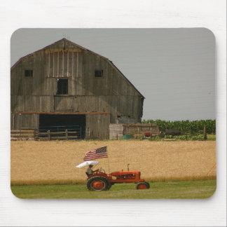 Tractor viejo Mousepad patriótico: Allis Chalmers Tapete De Raton