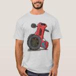 Tractor volcado playera
