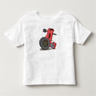 Tractor volcado playera de niño