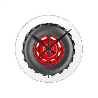Tractor wheel round clock