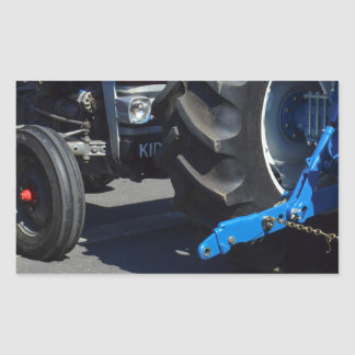 Tractor Wheels Rectangle Stickers