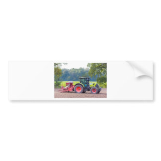 Tractor with agricultural machine on land.JPG Bumper Sticker
