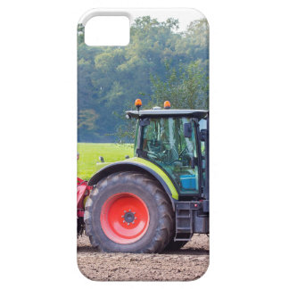 Tractor with agricultural machine on land.JPG iPhone SE/5/5s Case