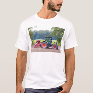 Tractor with agricultural machine on land.JPG T-Shirt