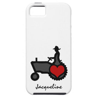 Tractor with Heart  Love the Country iPhone SE/5/5s Case