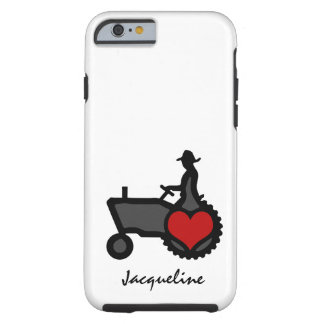 Tractor with Heart Love the Country Tough iPhone 6 Case