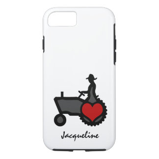 Tractor with Heart Love the Country iPhone 7 Case