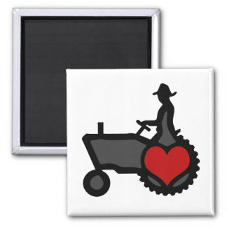 Tractor with Heart  Love the Country Magnet