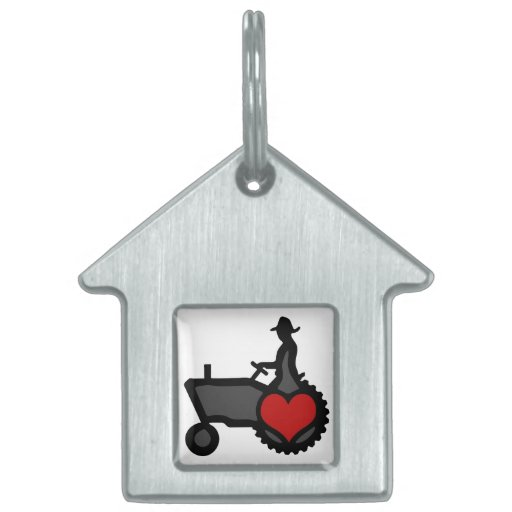 Tractor with Heart  Love the Country Pet Tags