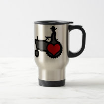 Tractor with Heart  Love the Country Travel Mug