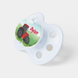 Tractor with Your Baby Boys' Name Pacifier