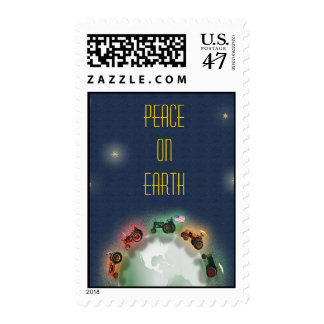 Tractor Xmas Stamp: Peace on Earth, Old Tractors Postage