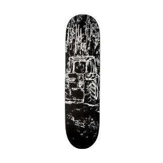 tractor y naturaleza del dibujo skateboards