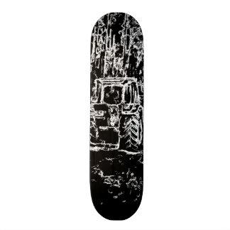 tractor y naturaleza del dibujo skate board