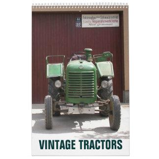 Tractores 2015 del vintage calendarios de pared
