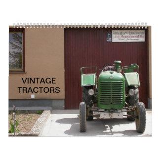 Tractores 2015 del vintage calendario
