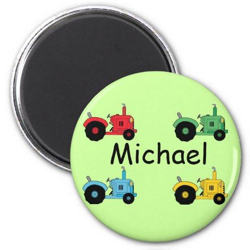 Tractores de granja imán redondo 5 cm