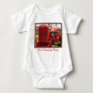 Tractor's are a country thing baby bodysuit