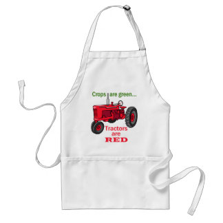 Tractors Are Red Adult Apron